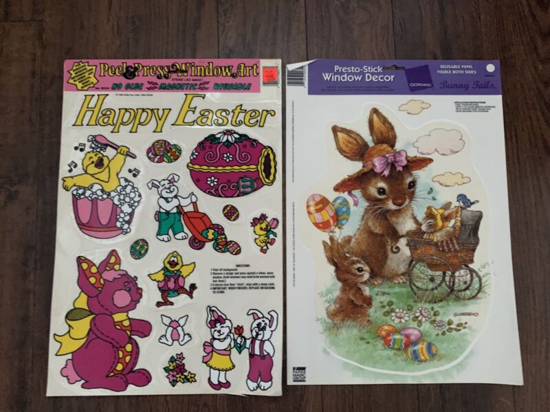 Vintage Easter Window Clings Decorations