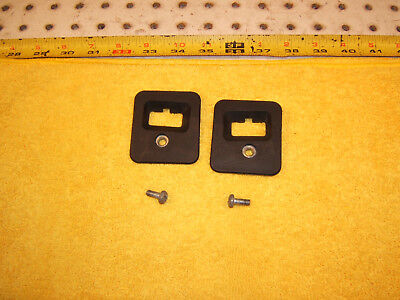 Mercedes R129 SL top of the front windshield loc black Genuine 2 Covers & Screws
