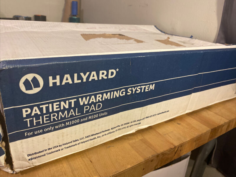 Halyard Patient Warming System Thermal Pads Use w/ M1000 M100 Only Split Torso M