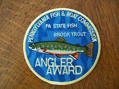FISH /& BOAT  COMMISSION PATCH 1983   ANGLING FOR YOUTH SERIES PA PENNA