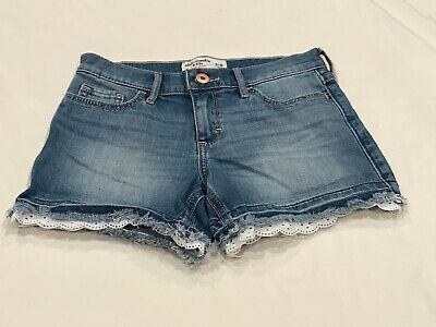 ABERCROMBIE KIDS BLUE DENIM SHORTS SIZE 9/10