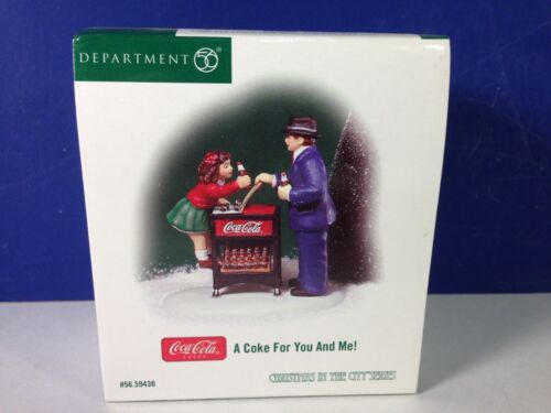 Dept 56 CIC Christmas in the City A COKE FOR YOU AND ME 56.59430 Brand New!