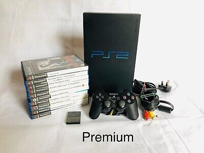 Sony PlayStation 2 PS2 Console TESTED WORKING Official Pad Plus PREMIUM 25 Games