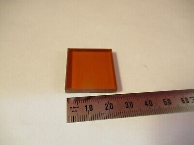 Optical Amber Glass Filter 1 Square Optics As Pictured 13-a-40
