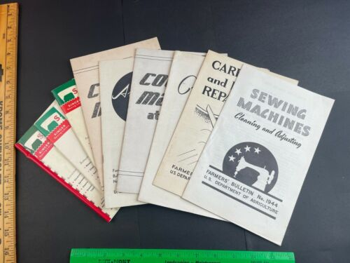 Survival Sewing Bulletins 1940s & Singer How To Books 1960s Coats Dresses