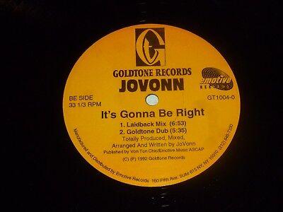 Jovonn   Its Gonna Be Right   Usa 4 Track 12  Vinyl Single