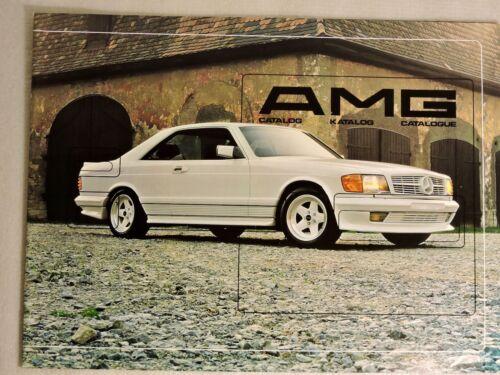 1984 Mercedes Benz AMG Catalog  W126 W116 W123 W201 W107 500 SEL Brochure RARE