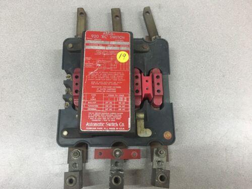 USED ASCO 920 RC SWITCH 200 AMP 9206PC