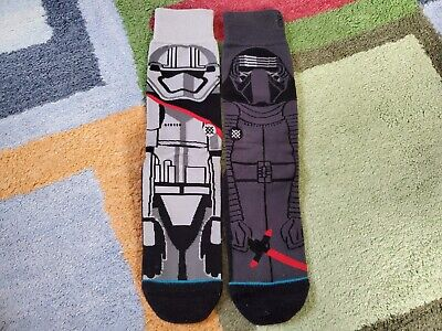 Stance Star Wars Socks - Kylo Ren + Captain Phasma - The Force Awakens - Size...