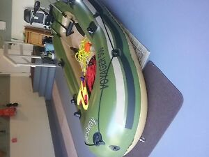 Boat, paddles, 12 volt motor and battery