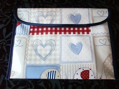 HANDMADE BABY HEALTH RECORD BOOK HOLDER POUCH BAG NHS RED BOOK COVER OILCLOTH