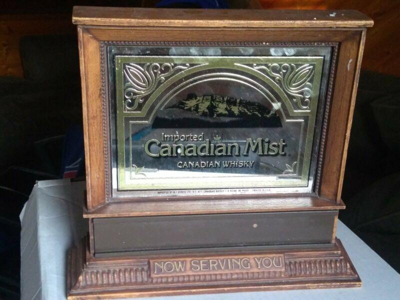 VINTAGE 60s era CANADIAN MIST WHISKEY BAR BACK ADVERTISING NOW SERVING YOU SIGN