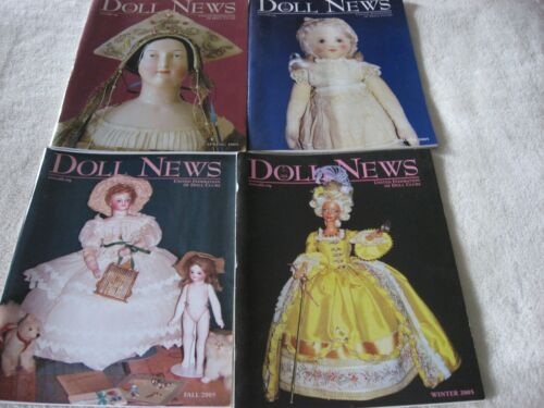 DOLL NEWS MAGAZINES - (4) 2005 COMPLETE YEAR - SPRING,SUMMER, FALL & WINTER UFDC