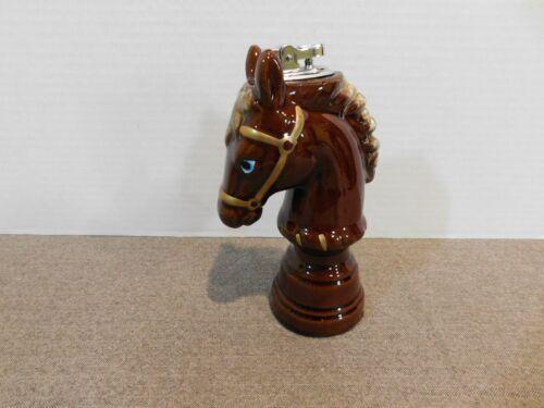 Vintage Horse Head Ceramic Cigarette Lighter Japan