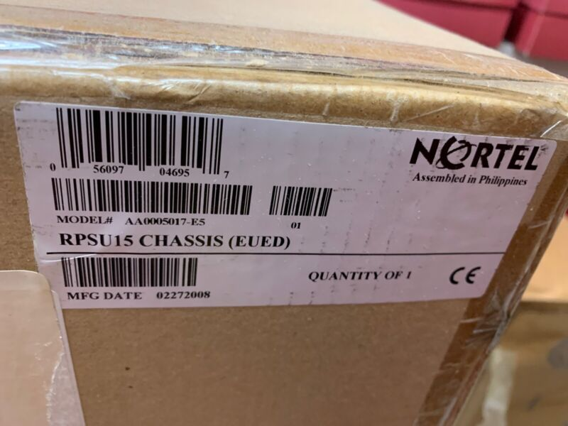 Nortel Aa0005017-e5 Rpsu15 Chassis Empty Ethernet Power Supply Sealed