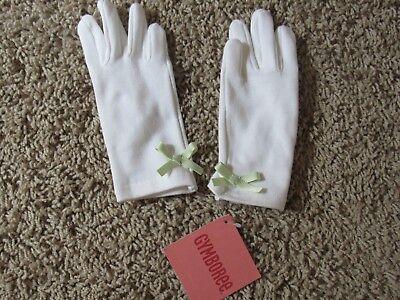 Gymboree NWT white gloves Time for Tea Time S 2 3 4 ](White Tea Gloves)