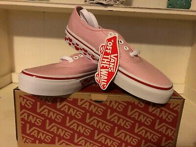 Vans Kids Pink heart pumps UK Kids size's uk 10,11.12,13,1,2,3,4