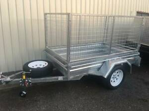 GALVANISED BOX TRAILERS WITH 2ft MESH CAGES ON SALE Auburn Auburn Area Preview