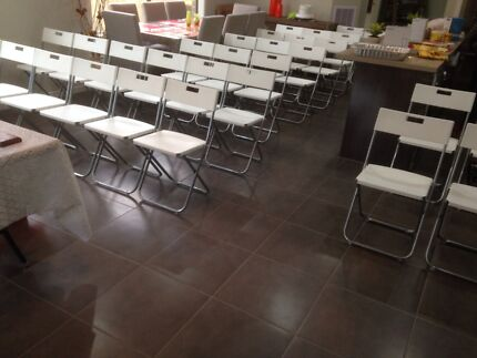 Chairs, Tables and partyware for Hire