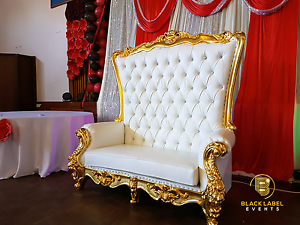 Wedding throne Chair King & Queen HIRE Perth Perth City Area Preview
