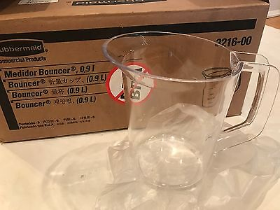 Rubbermaid Commercial Bouncer Measuring Cup 32oz Clear 3216 1 QUART, 4 (1 Quart Bouncer)