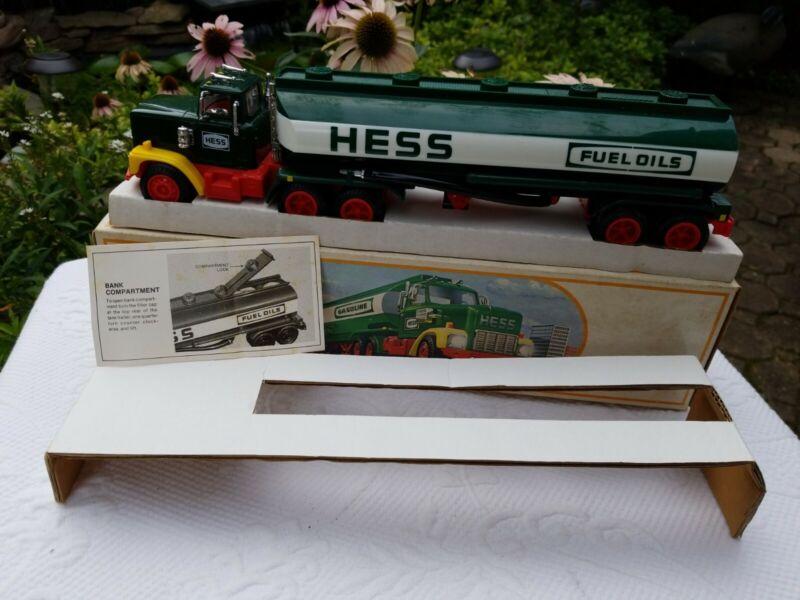 New 1984 Hess Battery Lighted  Tanker Truck  Bank  Amerda Hess Hong Kong