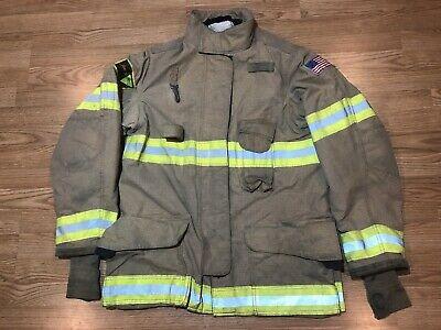 Janesvillelion Apparel Firefighters Jacket Turnout Bunker Gear 44 35 Xl 4831