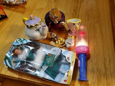 Beauty and The Beast Christmas Belle Doll ,Flash Light & Rubber Beast and Cup - Cheap Christmas Toys