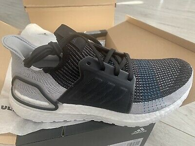 Adidas Ultra Boost 19 Size UK 7 Black Grey BRAND NEW WITH BOX F35242 Running