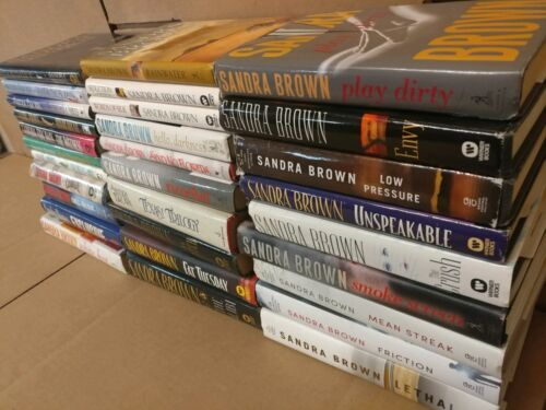Lot of 10 Sandra Brown Thriller Mystery Romance Suspense HB HCDJ Book RANDOM MIX