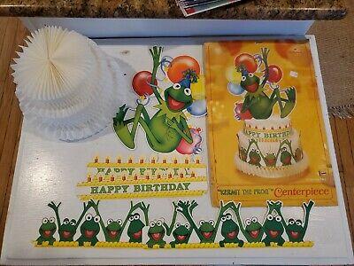 Vintage Disney KERMIT the FROG Birthday Centerpiece - Hallmark PRISTINE ~