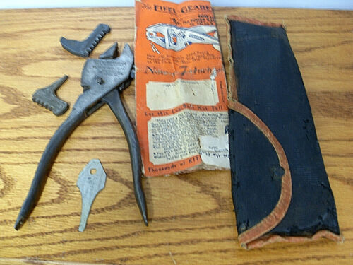 """EIFEL GEARED PLIERENCH 8 1/2"""" SET WITH JAWS AS SHOWN SOLID USED CONDITION LOOK"""