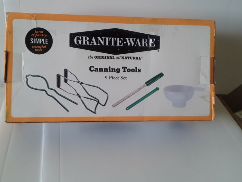 Granite-ware Canning Tools 5-pieces all natural