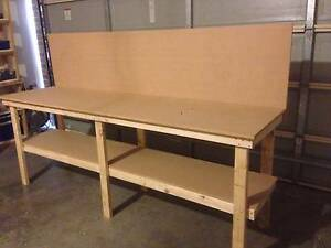 HEAVY DUTY WORKBENCH WITH BACKBOARD Cranbourne East Casey Area Preview