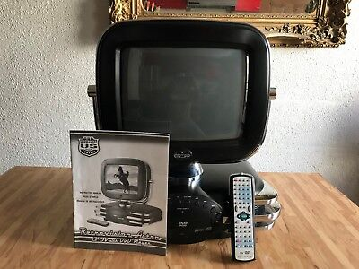"Retrovision Astro 13"" Color TV with DVD Player"