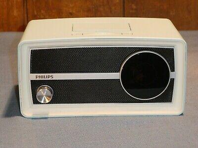 Phillips Rare Blue Retro Radio Alarm Clock iPod iPhone Speaker Dock ORD2100B/37