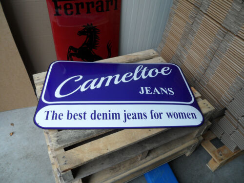 CAMELTOE - Women Jeans Retail Store - Porcelain Enamel Advertising Sign Shield