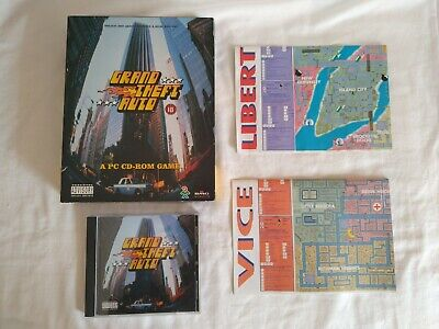 Grand Theft Auto GTA Big Box PC CD ROM Game with Maps - First Release, Rare for sale  Shipping to Nigeria