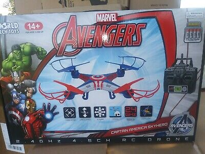 1 Be agog Avengers Captain America Skyhero Micro RC Drone 4.5-Channel 2.4GHz New
