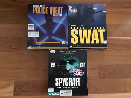 Computer games - Police Quest & Spycraft