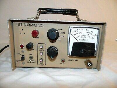 Ludlum Model 177 Alarm Rate Meter 3112005