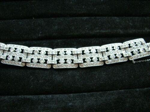 Vintage Royal Rhinestone Bracelet with chain