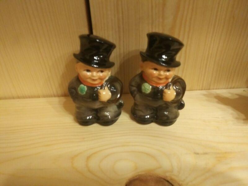 Vintage Goebel Irish Chimney Sweep Salt Or Pepper Single Shaker West Germany