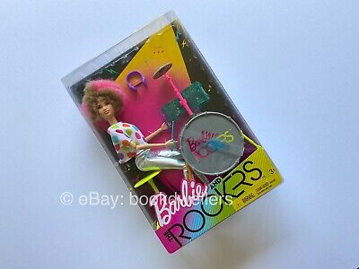 2017 Mattel Barbie and The Rockers DRUMMER NRFB African American Doll Exclusive