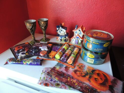 Lot of 14 Halloween Decorations and Party Favors