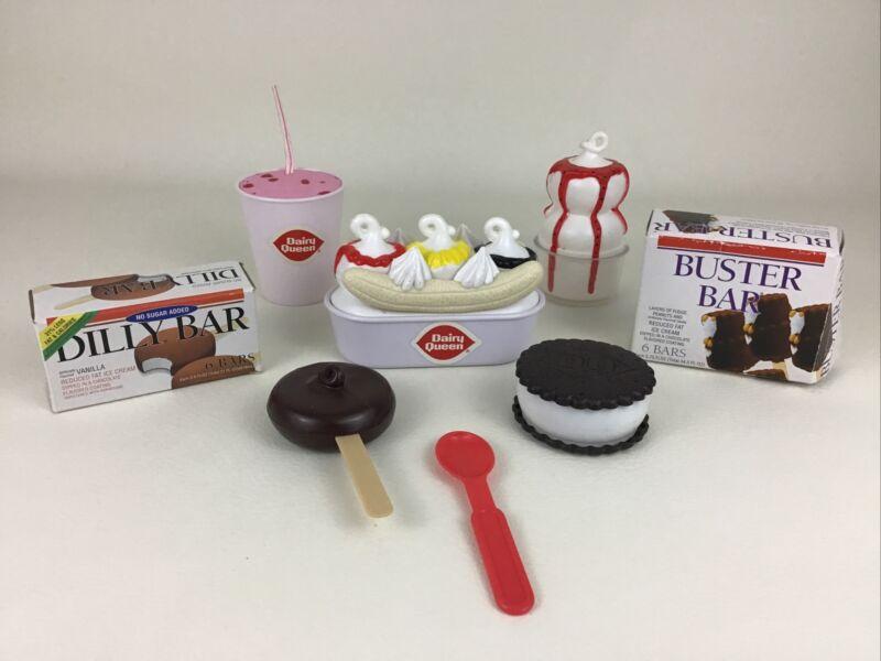 Dairy Queen Play Food Cool Treats Playset Sundae Dilly Bar Banana 2002 Boley Toy