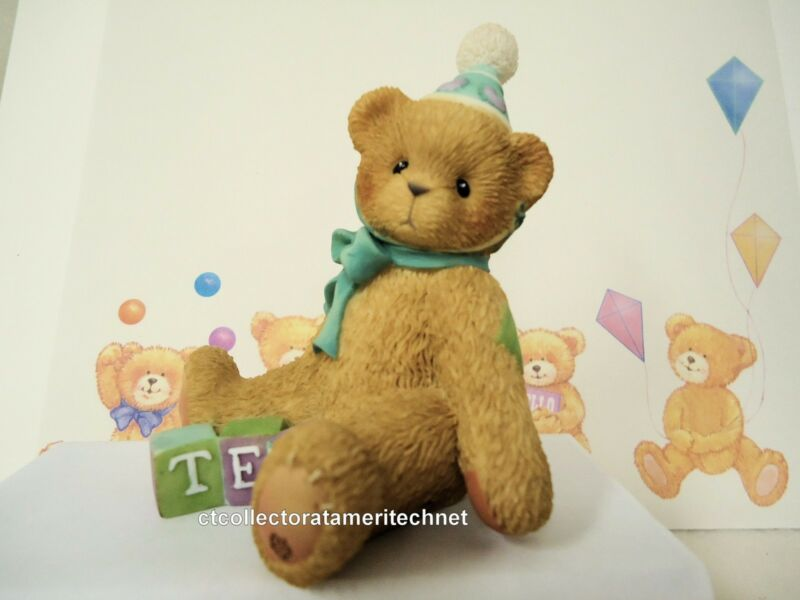 Cherished Teddies Birthday Bear Age 10  1998 No Reg #  NIB