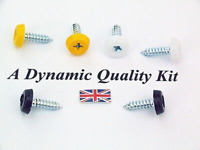 Cherished Registration Number Plate Fixing Kit 6Mix Replacement Oversized Screws