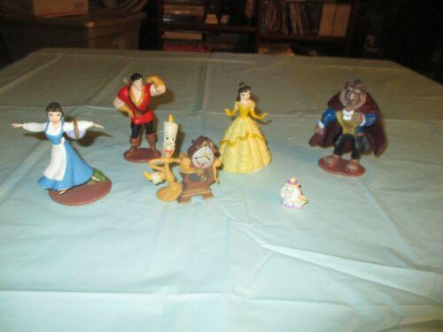 """Disney Beauty & the Beast Princess 4"""" PVC Figurine Figure Cake Toppers Lot"""