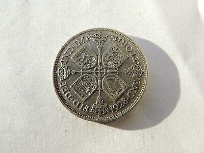 1928 GEORGE V SILVER FLORIN / TWO SHILLING COIN - REF 217